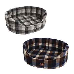 Pet Basket, Bed with Deluxe Soft Comfy Fleece Washable Dog Cat Cosy Dogs High...