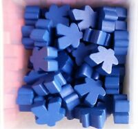 Games Accessories: Meeples - Wooden Meeples 16mm Royal Blue x 10