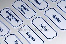 66 Gewürzetiketten, Etiketten, Gewürze, Aufkleber