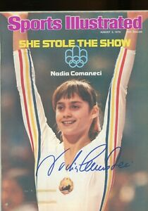 NADIA COMANECI OLYMPIC GOLD MEDALIST SPORTS ILLUSTRATED signed autographed