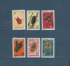 Tchad  animaux insectes   de 1974  num:  291/96   **