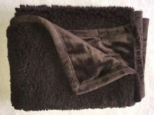 "Pottery Barn Kids Sherpa Baby Stroller Blanket ~ Chocolate Brown ~ 30"" x 40"""