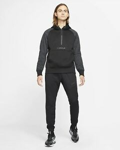 Nike Sportswear NSW Air Max Poly Fleece Full Tracksuit Black Large Hoodie Pants