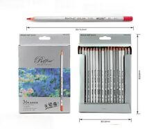 Marco Fine Art 36 Color Drawing Oil Base Non-toxic Pencils set for Artist Sketch