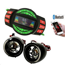 Motorcycle Bluetooth Wireless Speakers Audio System Stereo USB SD Radio ATV UTV
