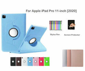 For Apple iPad Pro 11-inch (2020) Rotate PU Leather Smart Case Cover