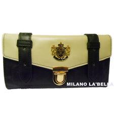 Pl113 LYDC DESIGNER Womens Vintage Satchel Purse Wallet Boxed 4 Colours Black
