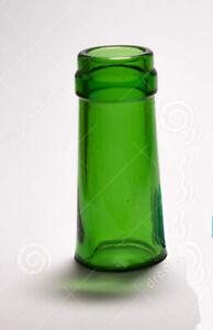 GREEN GLASS CONCAVE SLIDE Medium Sized Bottleneck Slide