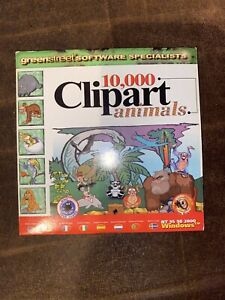 10,000 Clipart Animals PC CD ROM