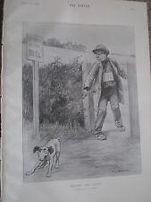 Las pruebas de su vista 'puntos ciegos' Begger Toro advertencia 1903 antiguos impresión ref W2