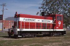 H: Original Slide Fwrd Fairmont & Western Ge 70T #107 - Fairmont Nc 1988