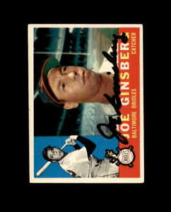 Joe Ginsberg Hand Signed 1960 Topps Baltimore Orioles Autograph