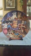 bradford exchange Frisky Business  Cat Plate