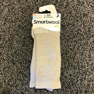 NEW Smartwool Mens Hike Merino Wool Crew Socks - Light Brown - Large