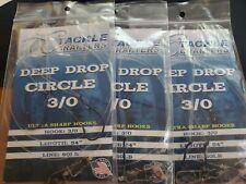 "Tackle Crafters Deep Drop 3/0 Hooks 54"" 60lb Line 3 Packs"