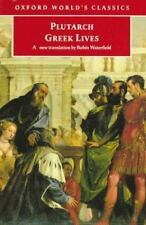 Greek Lives (Oxford World's Classics) by Plutarch Paperback USED 9780192825018