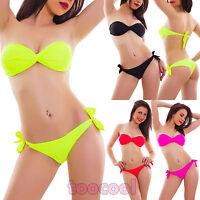 Bikini costume donna mare swimwear due pezzi fascia incrociata brasiliana F2662A