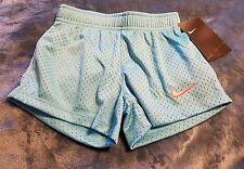 Light blue mesh shorts with pink Nike symbol size 4 nwt