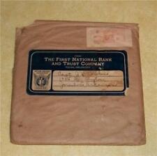 OLD 45 RECORD ALBUM DISC 1ST NATIONAL BANK TULSA OKLAHOMA OK VTG WWII RECORDISC