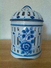 "Ceramic birdcage canister or candle holder, 6"""
