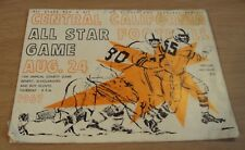 """1967 'Official FOOTBALL Program'~""""CENTRAL CALIFORNIA ALL STAR GAME""""~City/County~"""