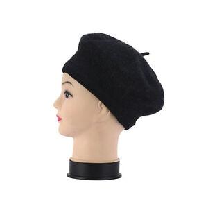 French Style Child Baby Kid Girls Wool Soft Winter Warm Plain Beret Beanie Hat