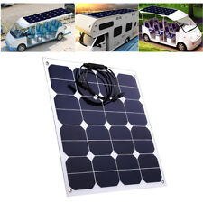 50W 18V Flexible Solar Panel Mono Cell Battery Charger For Yacht Caravan Camping