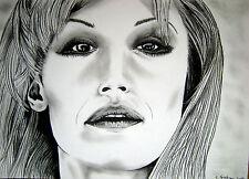 RAFFAELLA CARRA' - ritratto (portrait) carboncino su carta