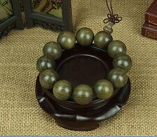 20mm*12 Tibet Gold-rimmed nanmu Buddhist Bracelet Prayer Bead Mala Bracelet
