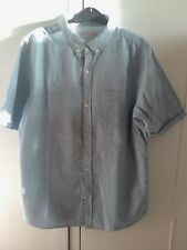 Boys Zara Age 11/12 Blue Short Sleeve Shirt in excellent condition