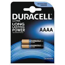 Pack of 2x Duracell AAAA 1.5V ULTRA Batteries MN2500 E96 MX2500 LR8D425
