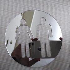 New Toilette porte bâton Homme Femmes WC Signe Wall Stickers de miroir acrylique