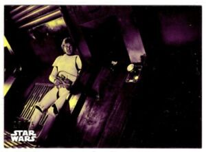 Star Wars ANH Black & White purple parallel card, #86 Looking For Escape, 16/25