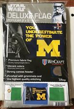 New listing Michigan Wolverines Star Wars You Underestimate The Power Of M 3'X5' Deluxe Flag