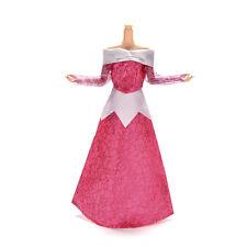 Handmake Rose Pattern Wedding Gown Dress For Barbies Sleeping Beauty Doll