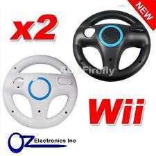 2x Wii WHITE BLACK Racing Steering Wheel for Nintendo Wii U Remote Controller AU