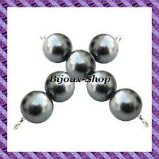 set di 50 perline di Boemia in vetro perlato 10mm colori disponibili Grigio