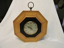 Smiths 8 Day 4 Jewels Octagon Wall Wind Up Clock with Key