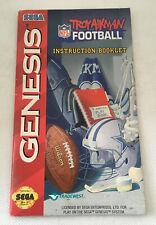 Troy Aikman NFL Football - Instruction Manual Booklet Only - Sega Genesis