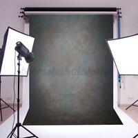 5x7FT Retro Black Gray Studio Photo Backdrop Photography Background Prop
