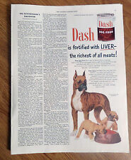 1950 Dash Armour Dog Food Ad Boxer Dogs & Puppies