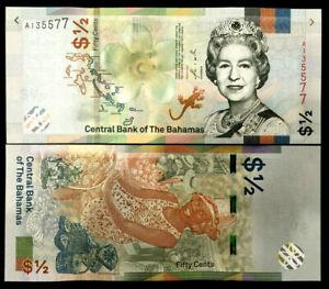 BAHAMAS 1/2 Dollar Year 2019 Banknote World Paper Money UNC