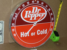 "DOCTOR PEPPER - BIG 12"" ROUND TEMPERATURE SIGN - Texas Soft Drink - SODA POP"