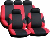 Black Red Full Car Seat Cover Protector Set for MITSUBISHI ASX 2010 C55