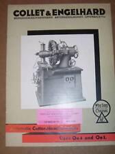 Vtg Collet&Engelhard Catalog~Cutter-Head Grinders~Tools