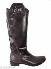 """Fabi Made In Italy Brown Leather Boots EU 37 Shoes Heels 1"""""""