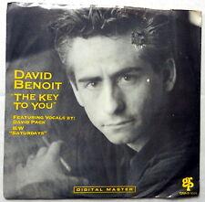 DAVID BENOIT The Key To You / Saturdays 45 Pop NEAR-MINT grp
