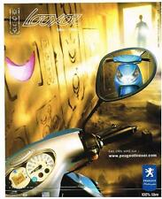 PUBLICITE ADVERTISING  2002  PEUGEOT  scooter LOOXOR