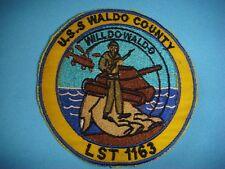 NAVY PATCH USS WALDO COUNTY LANDING SHIP TANK LST-1163