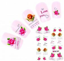 Nail Art Stickers Water Decals Decoration Valentines Vintage Roses Angels BJC80